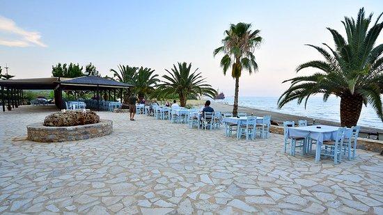 Γευματίστε δίπλα στη θάλασσα με θέα την παραλία και το Ναυάγιο