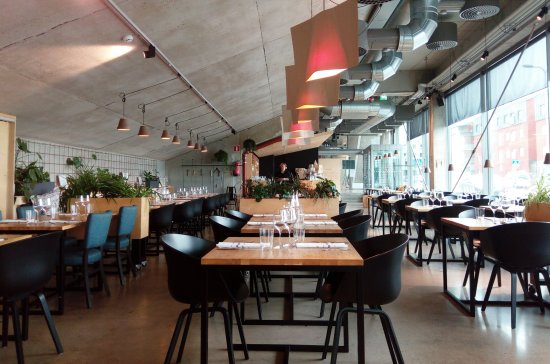 Restaurant Has Industrial Decor Picture Of Bistro Sinne Porvoo