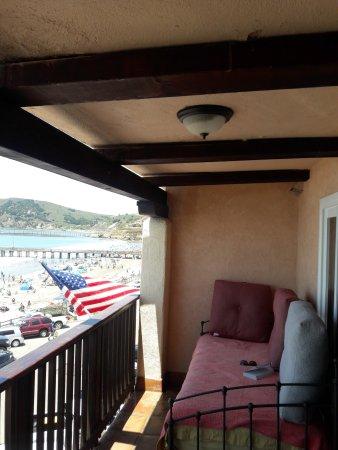 Avila Beach, Kalifornia: The day bed on our lanai, fabulous!