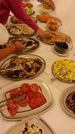 Hotel Villa dei Platani : Salad buffet