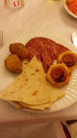 Hotel Villa dei Platani : Cena tipica romagnola - deliziose!