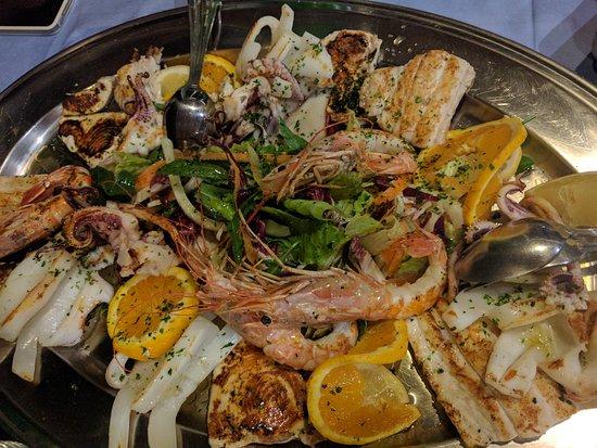 Hotel La Certosa: grigliata di pesce