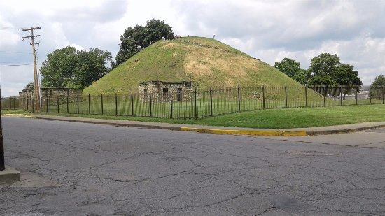Indian burial mound across street from penitentiary