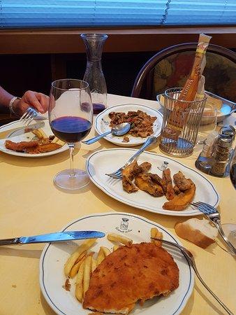 Ristorante da Rino: The remains of dinner