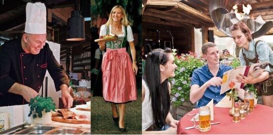 Berghof: Gastgarten mit Live Musik im Sommer