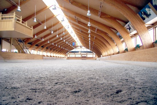 Prienai, Lituania: Indoor horse riding arena