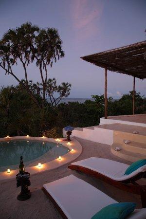 Kutani, Tanzania: Plunge pools at our hillside suites