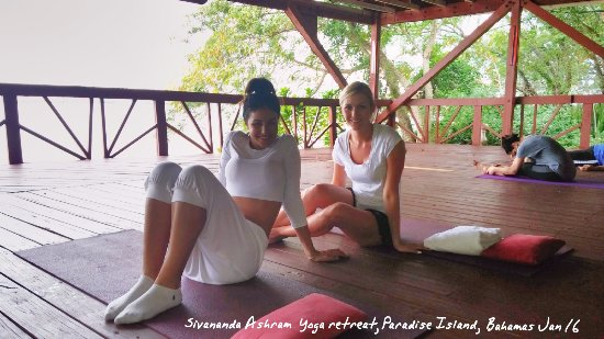 Sivananda Ashram Yoga Retreat Well Being Center: right before class