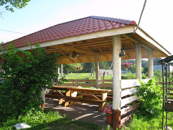 Nizhneye Kazachye, روسيا: Беседка для отдыха и барбекю