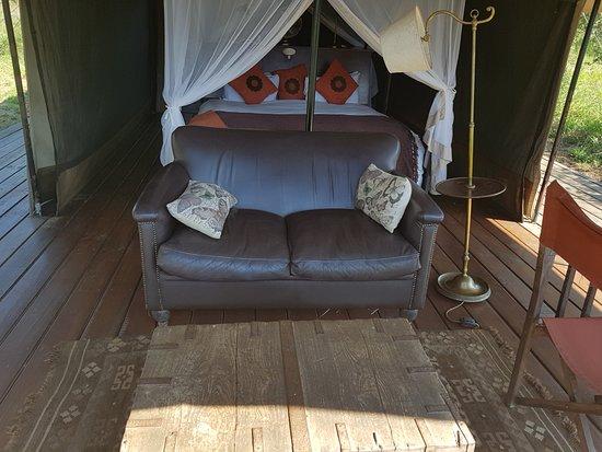 Honeyguide Tented Safari Camps: The sofa in the tent