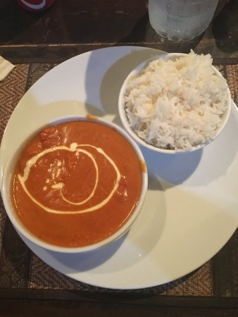 Shalimar Indian Restaurant: butter chicken curry