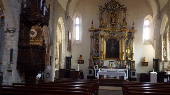 Sauveterre-de-Rouergue, Francia: la nef et le choeur