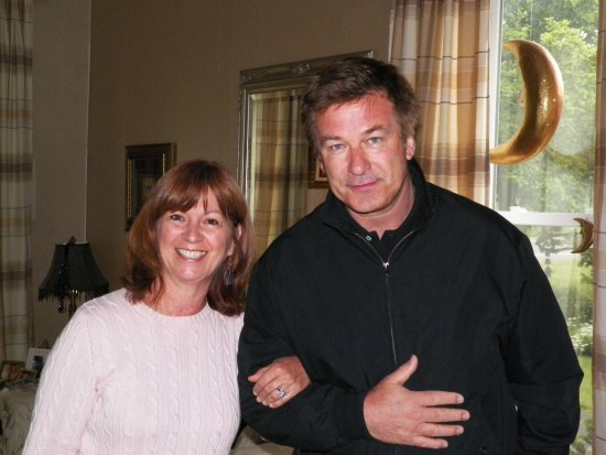 MoonStruck Manor Bed and Breakfast: Innkeeper Anne with guest Alec Baldwin