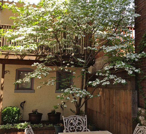Napoleon's Retreat Bed & Breakfast: Our carriage house is a full apartment with private entrance & balcony