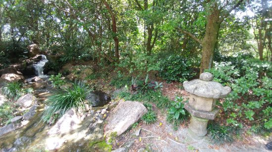 Morikami Museum & Japanese Gardens: Small waterfall area to enjoy