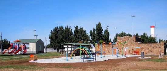 Drumright, OK: Splash Pad at Whitlock Park