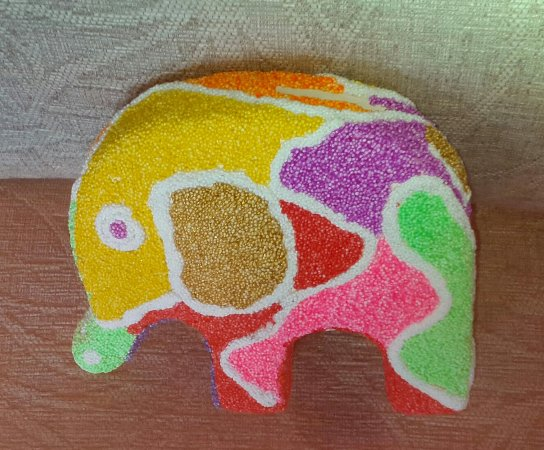 Pots and Pancakes: I enjoyed doing this elephant it was very different to painting but not being able to get back w