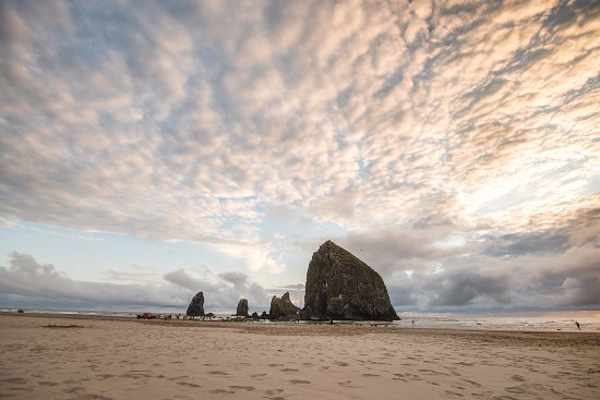 RV Resort at Cannon Beach : Beautiful and iconic Haystack Rock.  Located just a short distance from the RV Resort.