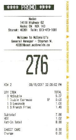 Madoc, Canadá: $8.88 pour deux