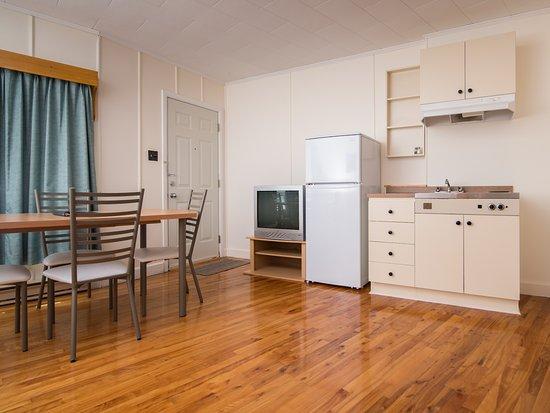 Perce Au Pic de l'Aurore: Studio kitchenette with ocean view