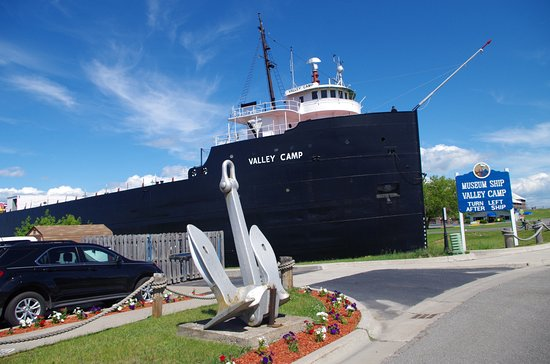 Sault Ste. Marie, Μίσιγκαν: Parking entrance next to Valley Camp ship museum
