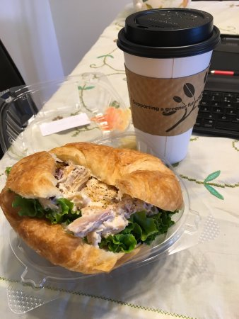 Forest Lake, MN: Chicken salad on a croissant & Kodak mocha