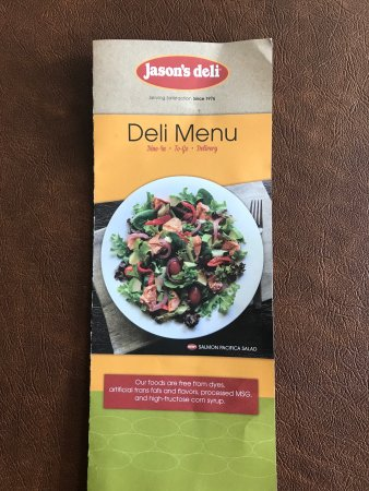 graphic regarding Jason's Deli Printable Menu identified as Jasons Deli - Consider of Jasons Deli, Chattanooga
