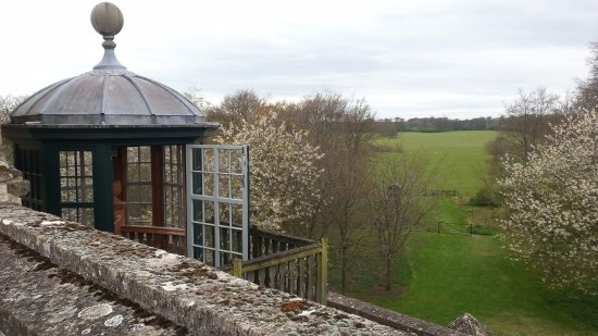 Northleach, UK: View from the roof to the extensive grounds
