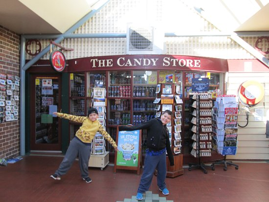 Sydney Tours-R-Us: My sons at The Candy Store