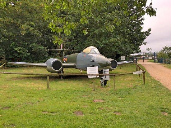 Bungay, UK: Back of pub: Gloster Meteor F(TT).8.