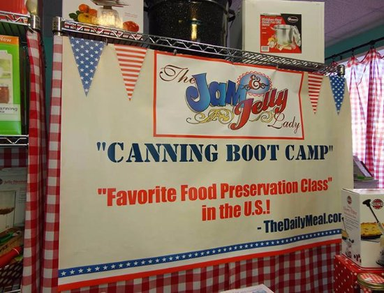 Lebanon, OH: The Jam and Jelly Lady's Canning Boot Camp annually receives students from all over the US & Can