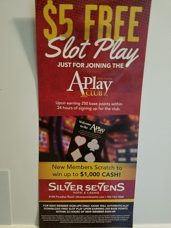 Silver Sevens Hotel & Casino: Look for this flyer.
