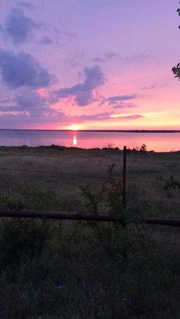 Whitney, Teksas: sunset