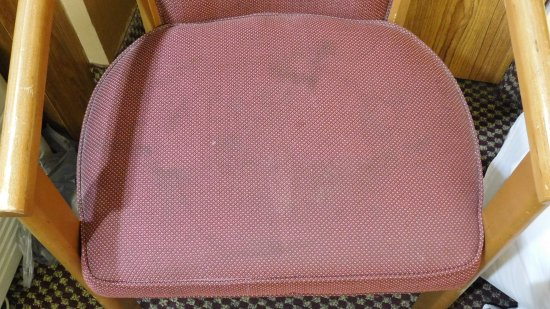 GuestHouse Inn Pigeon Forge: Stains on chair