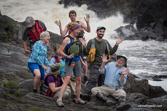 Weston, ME: Group Picture at Allagash Falls