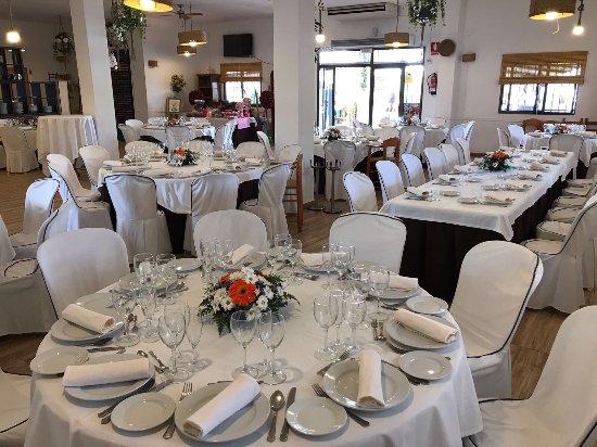 Picanya, Spain: Interior restaurante montado para un evento