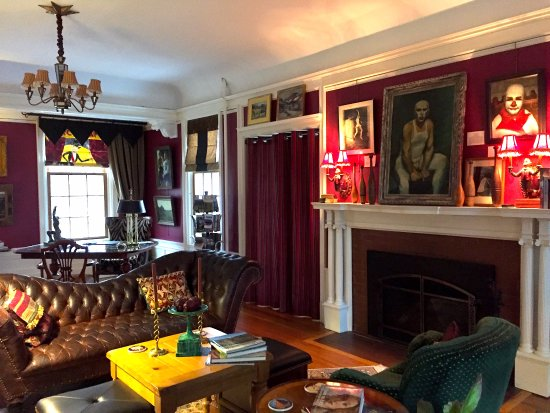 Living room at Juniper Hill Bed & Breakfast, Trumansburg, NY.