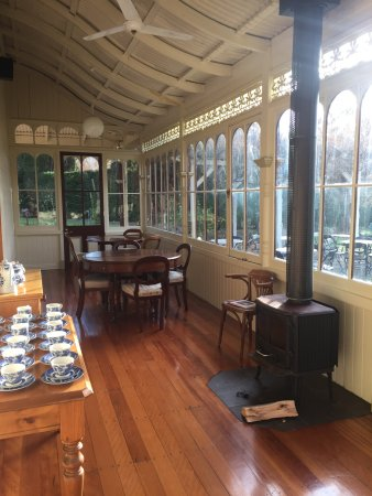 New Norfolk, Australia: They'd just opened a sunny tea room. Had some of the best scones I've ever tasted!