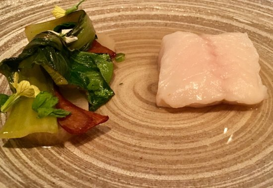 Little River, CA: fort bragg ling cod with bok choy, black radish, king trumpet mushroom