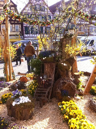 Easter Decorations In The Market Square Picture Of Bad