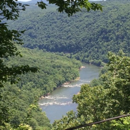 ACE Adventure Resort: View from the zip line of the New River