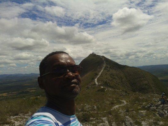na metade do caminho de fé na serra de Monte Santo - BA.
