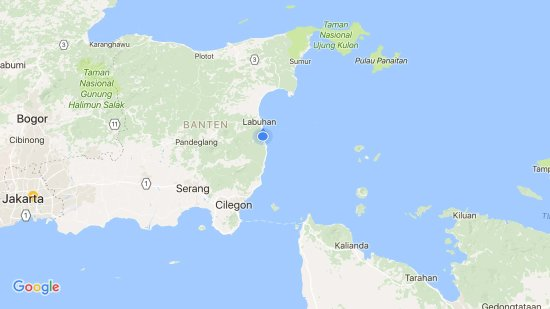 ‪‪Carita‬, إندونيسيا: Map of the resort (it is nearby ujung kulon, Merak, and Lampung too)‬