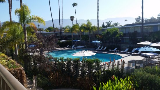 Goleta, CA: View from our room overlooking the pool area