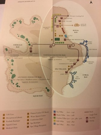 Map of the Island - Picture of Pangkor Laut Resort, Lumut ...