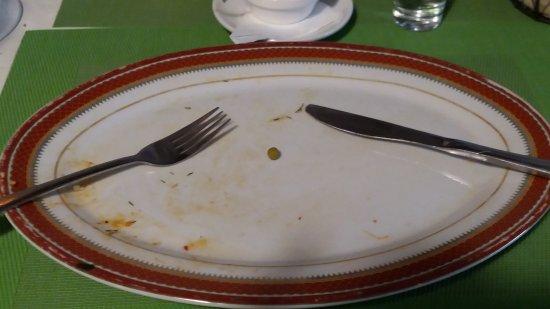 Alles aufgegessen!