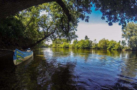 Barrou, France: La Creuse, rivière attenante au camping
