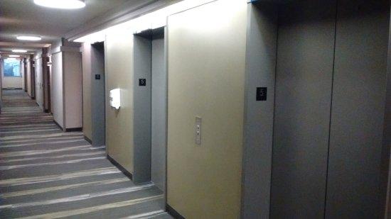 Ryerson University - Pitman Hall Residence: Espace ascenseurs