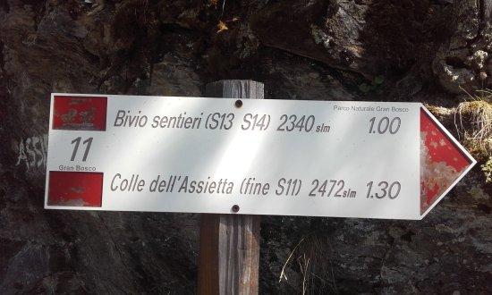 """Parco Naturale del Gran Bosco di Salbertrand: Questo cartello è all'inizio della """"scarpinata"""""""