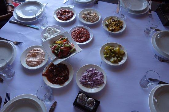 Shared salads & pitta to start